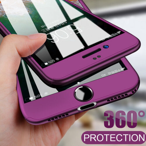 360 Full Protective Case for iPhone Xs Max/Xr/X 6 7 8 Plus Hard Armor Cover+Film