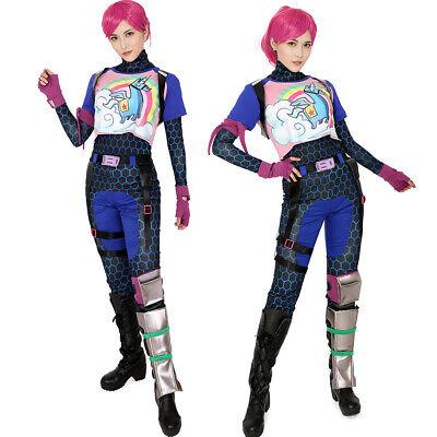 Rainbow Girl Halloween Costume (Brite Bomber Rainbow Horse Zentai Cosplay Halloween Costume Girl Fancy)
