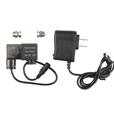 DC 12V Output Solenoid Valve Aquarium CO2 System Regulator Electric Low H2A7