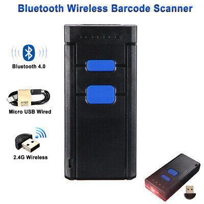 Wireless Bluetooth Barcode Scanner Laser Mini Portable Us Seller