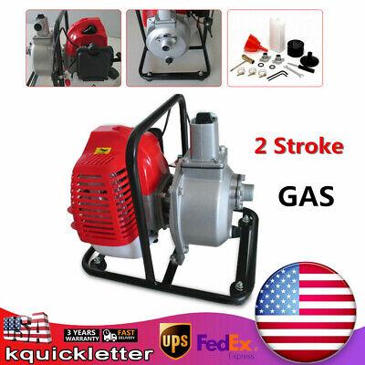 Gas Gasoline Water Pump1 Inch 2 Stroke 2hp Petrol Water Transfer High Pressure