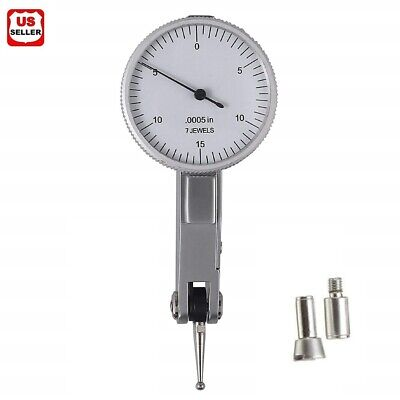 .030 Dial Test Indicator High Precision 0.0005 Graduation 0-15-0 White Face Us