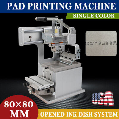 Single-color Manual Pad Printing Machine Pad Printer With Opened Ink Dish System