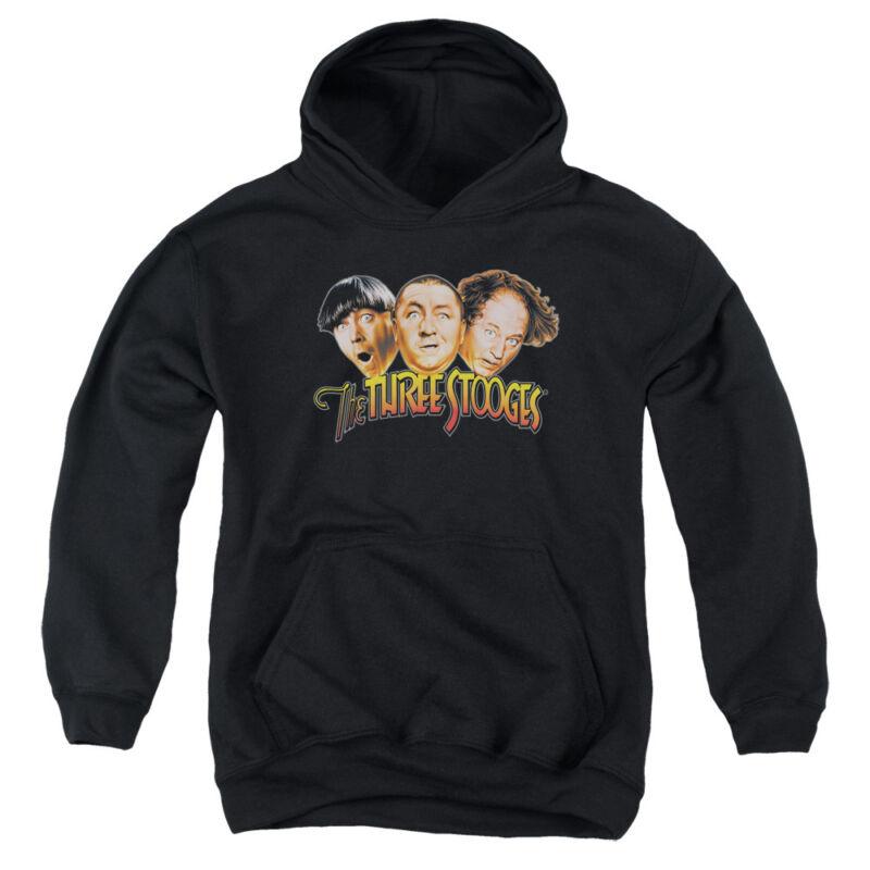 Three Stooges Kids Hoodie Logo Black Hoody