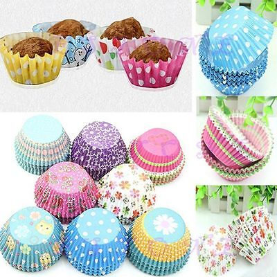 Mini Cupcake Liners (Cute Decorating Cases Liners Chocolate Muffin Mini Cup Paper Cupcake Baking)