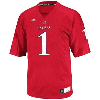Kansas Jayhawks Adidas NCAA Official Crimson Red Football Replica Jersey - Adidas Kansas Jayhawks Football Jersey