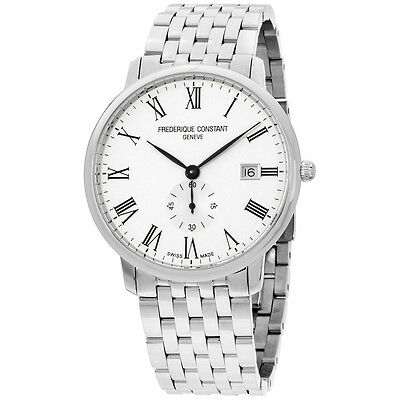 Frederique Constant Slimline Silver Dial Stainless Steel Mens Watch Fc245wr5s6b