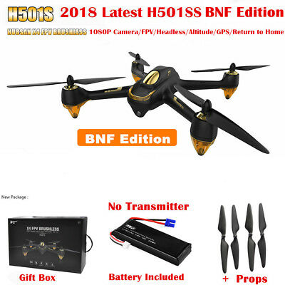 Hubsan Drone X4 H501S Pro FPV GPS 1080P RC Quadcopter Follow Me Brushless RTH US