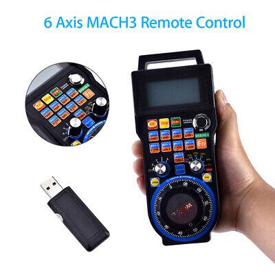 Cnc Mach3 6 Axis Handheld Wireless Handwheel Controller Pendant Manual Machine