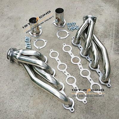 Exhaust Header OCPTY Shorty Engine Conversion Swap Truck Stainless Steel Header for Chevy GMC Trucks LS1 LS2 LS3 C-10 LS Pickups