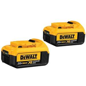 DEWALT-DCB204-2-20V-MAX-Premium-XR-Li-Ion-4-0-Ah-Cordless-Tool-Battery-2-Pack