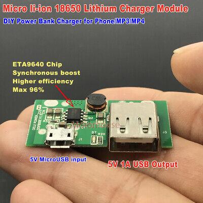 Micro Usb 5v 1a Lithium Li-ion Lipo 3.7v 18650 Battery Charger Module Board Diy