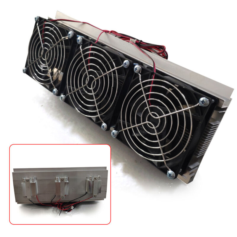 12V 3-Chip Semiconductor Refrigeration Cooler Cooling System  Air Cooling Device