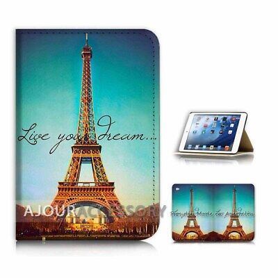 ( For iPad Mini Gen 1 2 3 ) Flip Case Cover AJ40679 Eiffel Tower Paris (Ipad Mini 3 Cover Paris)