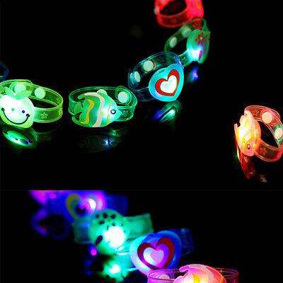 LED Flashing Wrist Band Bracelet Light Up Party Glow In Dark Boy & Girl Gift - Led Wrist Bands