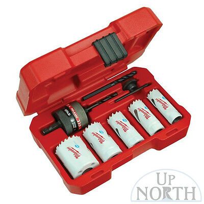 New Milwaukee 8pc Ice Hardened Hole Saw Kit 49-22-4005 Free Shipping