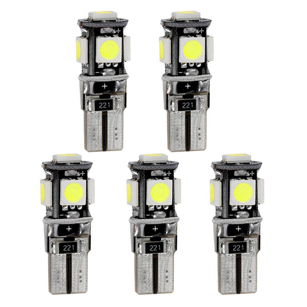 For CITROEN C3 Picasso Error Free White SMD LED Source Kit Premium 5 Set Lamp