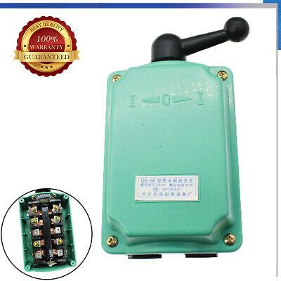 60a 0-380v Drum Switch Forwardoffreverse Motor Control Rainproof Reversing Us