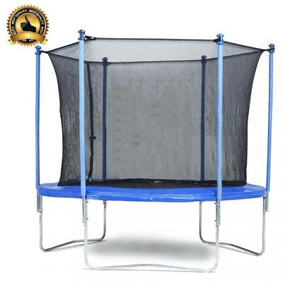 New 8 FT Trampoline Combo Bounce Jump Safety Enclosure Net W/Spring Pad TL08
