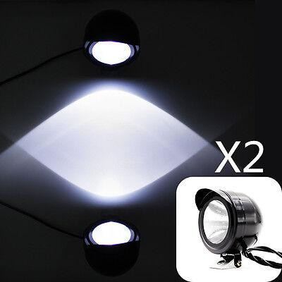 2x Universal LED Spot Light Fog Headlight 12V-80V Motorcycle Car E-Bike
