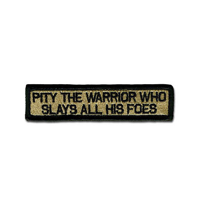 Tactical Combat Badge Morale Hook and Loop Patch by BASTION Pity The Warrior ACU