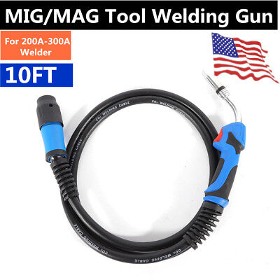 250amp 10 Feet Mig Welding Gun Torch Stinger Welder Gun Replacement For Miller