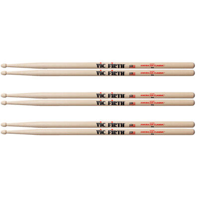 3 Paar Vic Firth 7A American Classic USA Hickory Drumsticks  *BUNDLE*