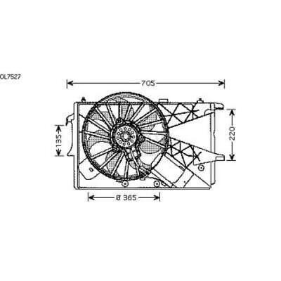 Fan Engine Cooling Radiator Fan Blower Motor Opel Meriva