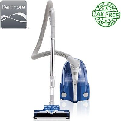 Kenmore Vacuum Cleaner Bagless Compact Canister w/ Turbine Brush - Silver/Blue (Kenmore Cannister)