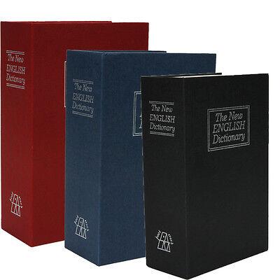 Large/ Medium/ Mini Home Dictionary Book Secret Safe Storage Key Lock Box Cash