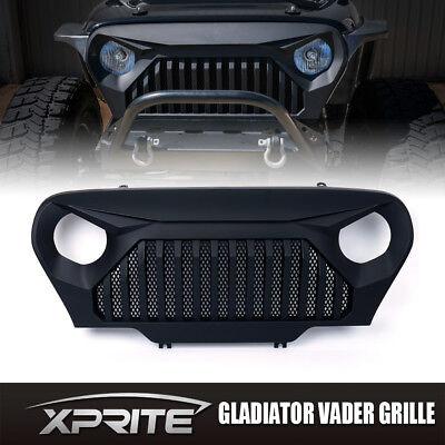Xprite Front Matte Black Gladiator Vader Grille Grill For 97-06 Jeep Wrangler TJ