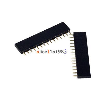 10pcs Single Row 1x15 15pin 2.54mm Female Pin Socket Connector