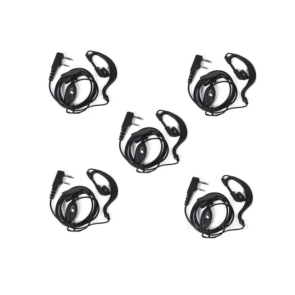 5 pcs 2pin headset earpiece mic for baofeng uv