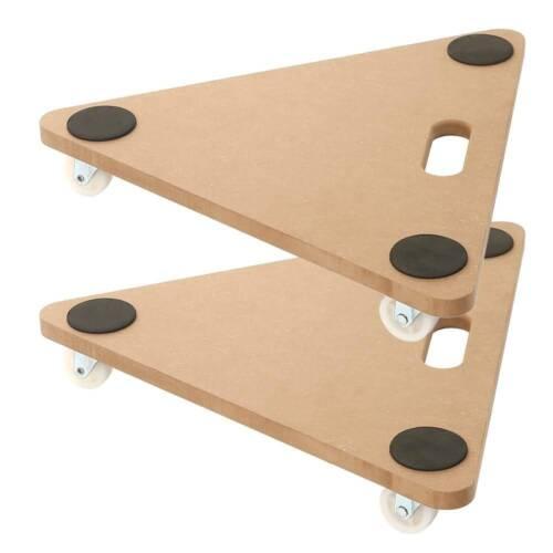 2 Pack 20 inch Dolly Moving Cart Platform 350LB Tringular Wood Mover Platforms