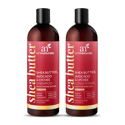 Natural Shea Butter Avocado Shampoo & Conditioner Collection for Dry Hair - 16oz