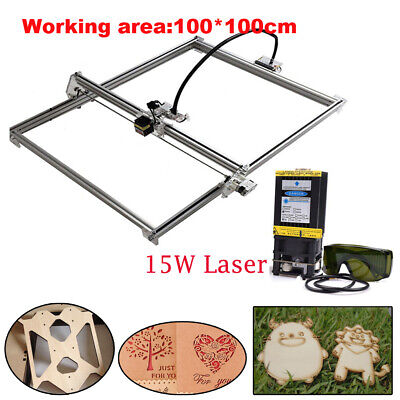 Cnc 100100 Router Kit 15w Laser Module Wood Carving Engraving Milling Machine