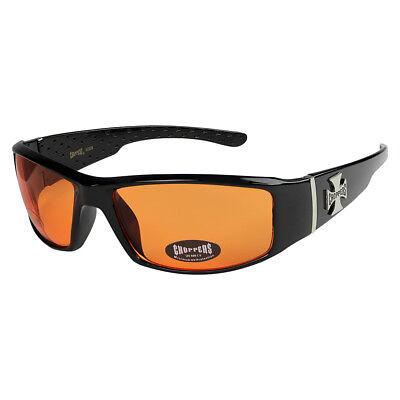 Choppers 311 Sonnenbrille Brille orange getönt Herren Damen Männer schwarz