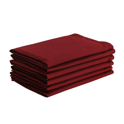 Cotton Hemstitch Napkins Burgundy 6/pack