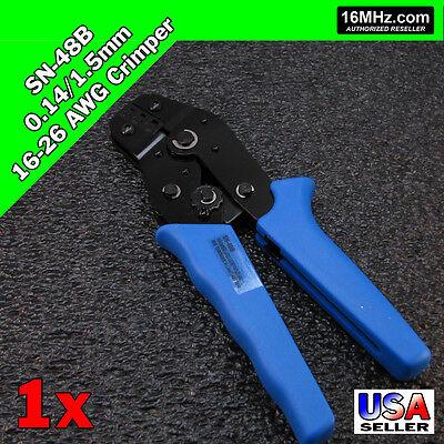 Sn-48b Crimper Crimp Plier Tool 0.14-1.5mm 16-26 Awg 3 Size Dupont Jst Molex Us