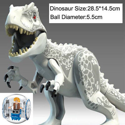 Jurassic World 2 Fallen Kingdom White Indominus Rex Dinosaurs Tyrannosaurus Lego