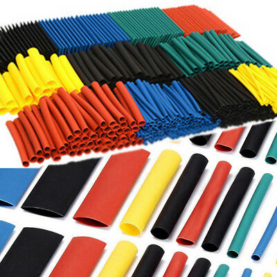 530pcs 21 Heat Shrink Tube Tubing Sleeving Wrap Wire Assorted 5 Color 8 Size