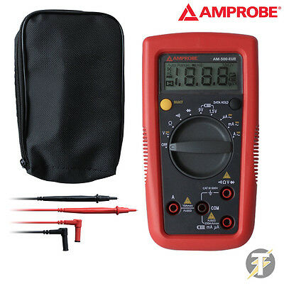 Amprobe Am-500 Diy Pro Digital Multimeter With Ldmc25 Custodia And Test Leads