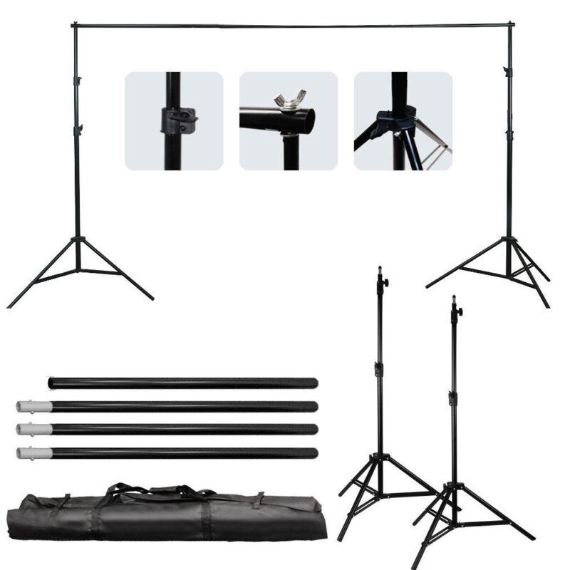 10 Ft Adjustable Background 4 Crossbar Kit Photo Studio Backdrop Support Stand