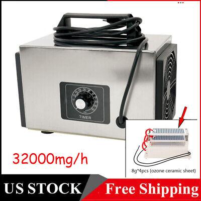32g/h Ozone Generator Machine Home Industrial Air Purifier Filter Ozonator I1J2