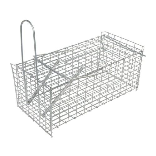 300 x 150 x 130mm Rat Trap Cage -Humane Capture- Vermin Pest Control- Mesh Box