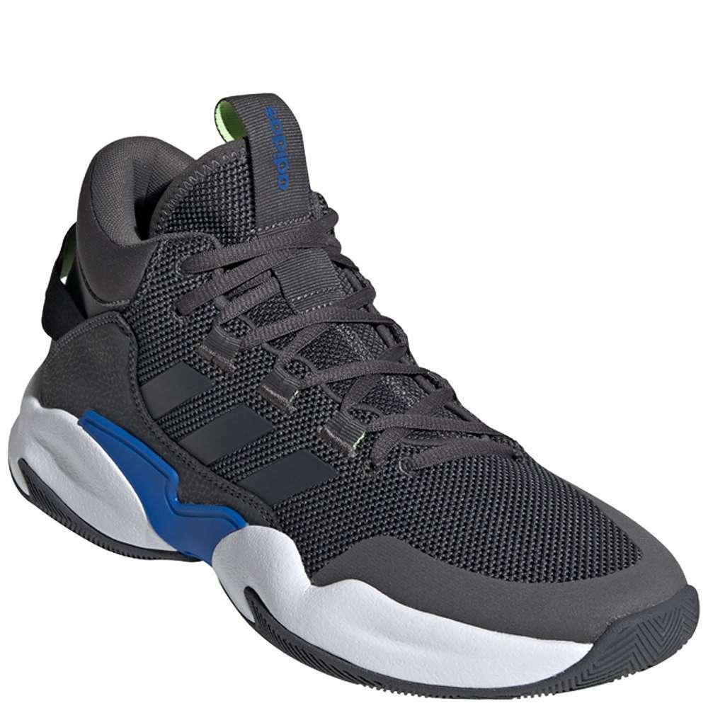 Adidas Street Check Men's [ Grey Six/Grey Six/Blue ] Basketball - MEE9668
