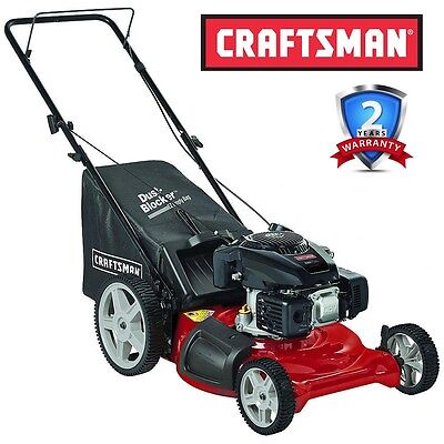 "Craftsman 149cc 21"" Kohler 675 OHV Engine, Gas Bag Push Lawn Mower High Wheels"