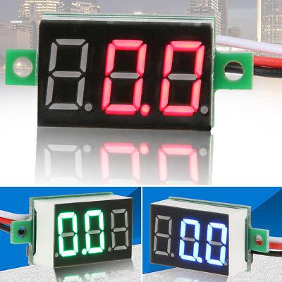 Mini Dc 2.4-30v 3 Wire Lcd Digital Voltmeter Ammeter Voltimetro Volt Meter Tool