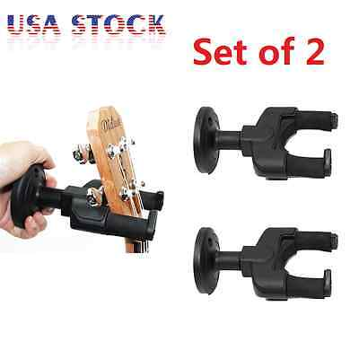 Lot 2 Guitar Hanger Stand Holder Hook Wall Mount Display Acoustic Electric Bass