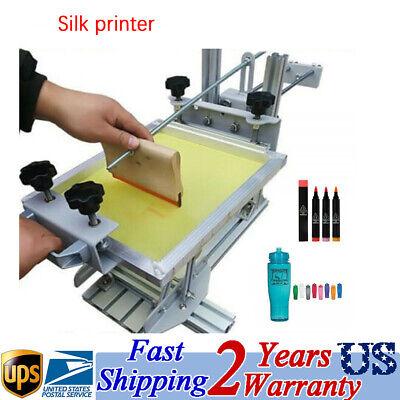 Manual Cylinder Silk Screen Printing Press Machine For Mug Cup Pen Bottle Usa